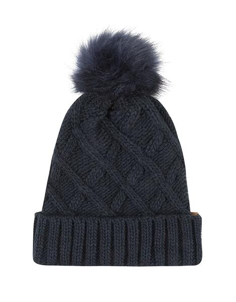 ADULT NAVY CABLE BEANIE