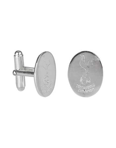 SSILVER OVAL CUFFLINKS