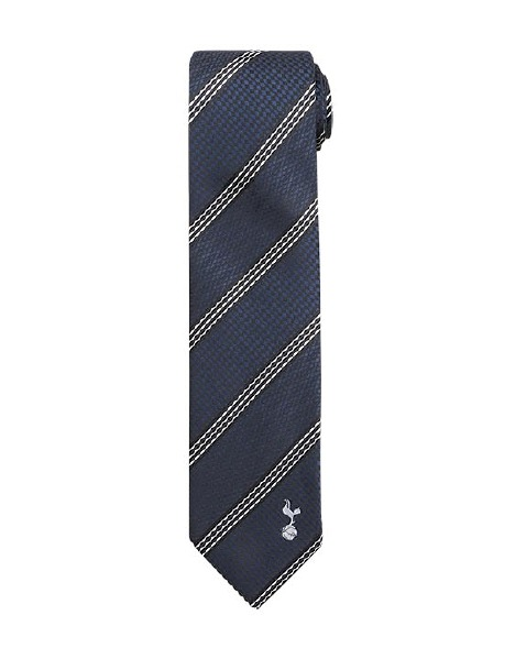 TRIPPLE  WHITE STRIPE POLYESTER TIE