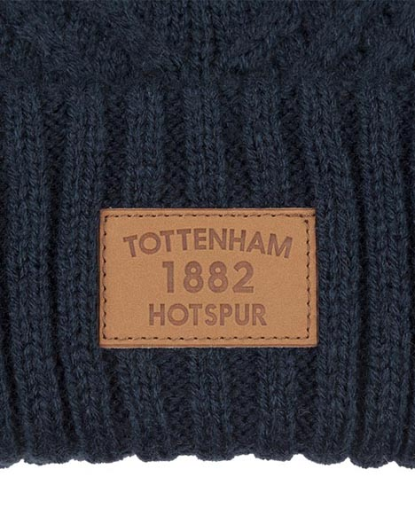 ADULT NAVY CABLE BOBBLE HAT