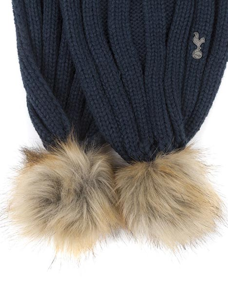 LADIES OVERSIZE FAUX FUR BOBBLE SCARF