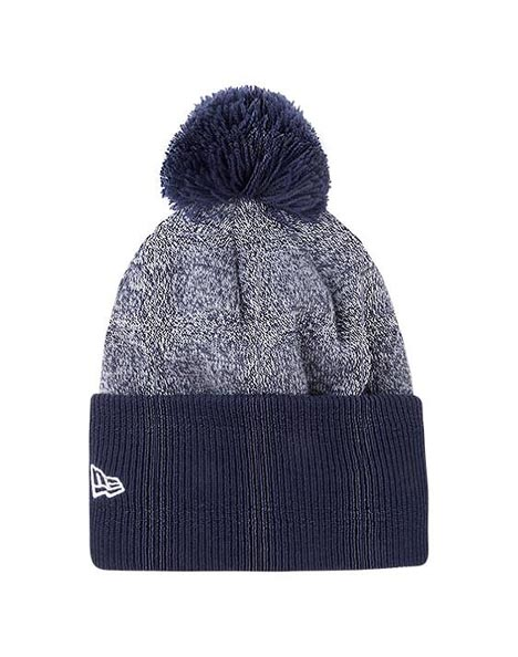 NAVY/GREY NE WIDE CUFF BOBBLE