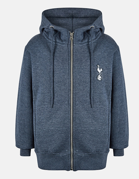 Spurs Youth Boys Full Zip Essential Hoodie