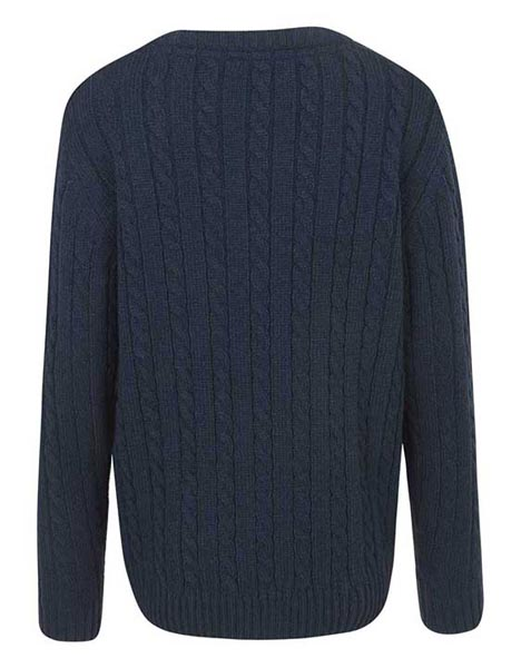 Spurs Boys Cable Button Neck Jumper
