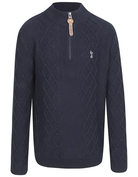 Spurs Youth Boys Cable 1/4 Zip Jumper
