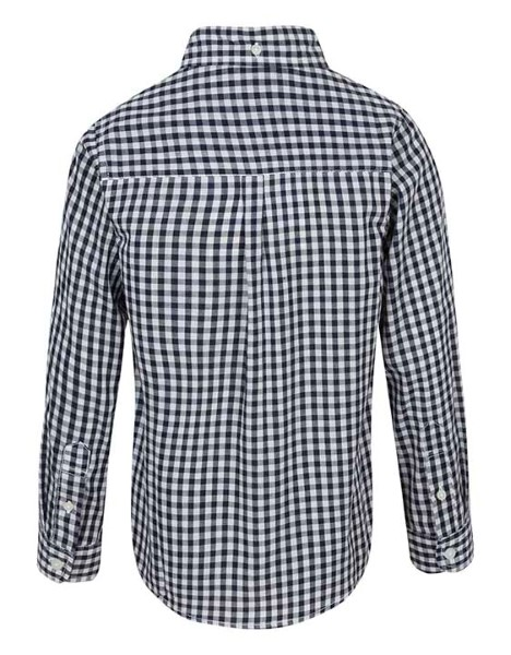 Spurs Boys Small Check Long Sleeve Shirt