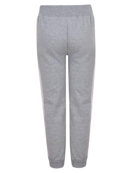 Spurs Kids Grey And Pink Side Stripe Jogger