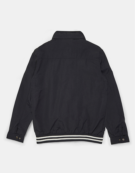 Stripe Rib Hem Harrington Jacket