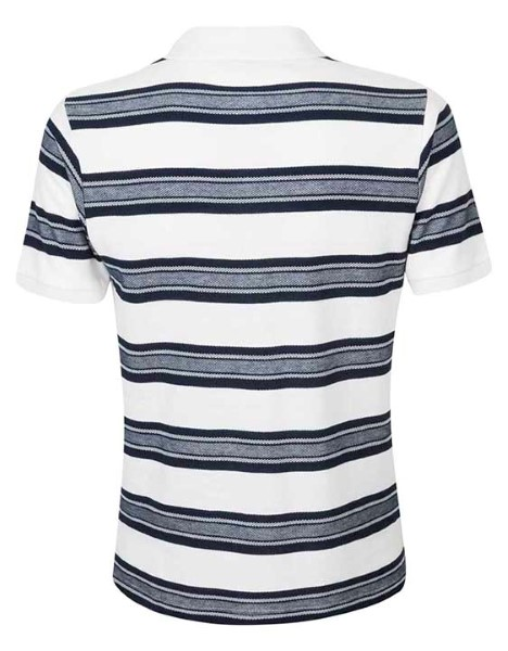 Spurs Mens Stripe Mix Stitch Polo