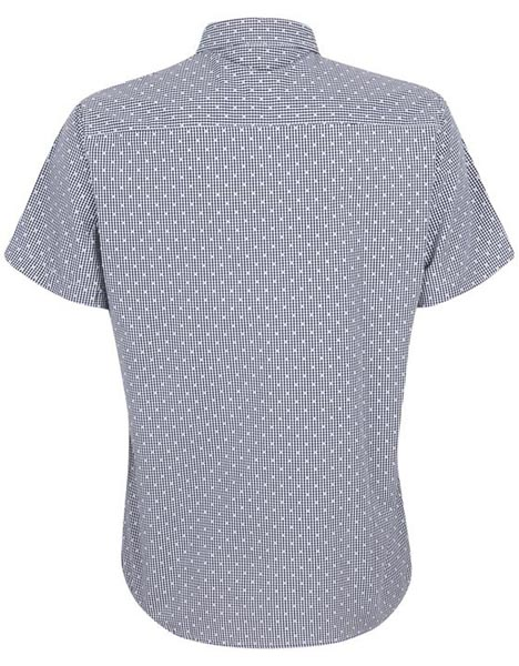 Spurs Mens Short Sleeve Check Mix Shirt