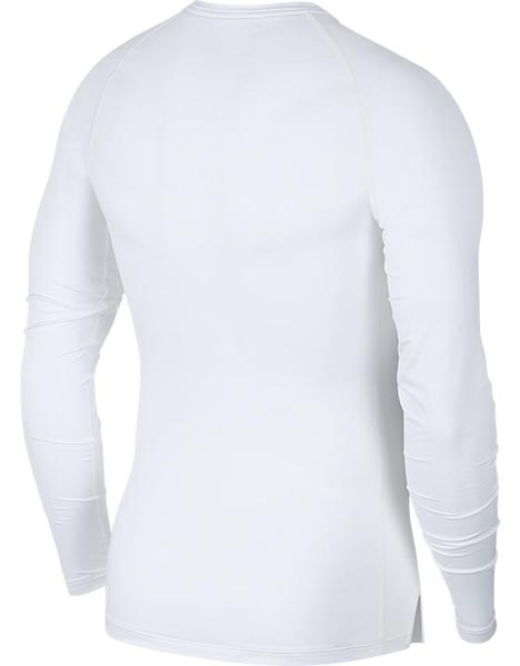 Nike Adult White Pro L/S Baselayer Top