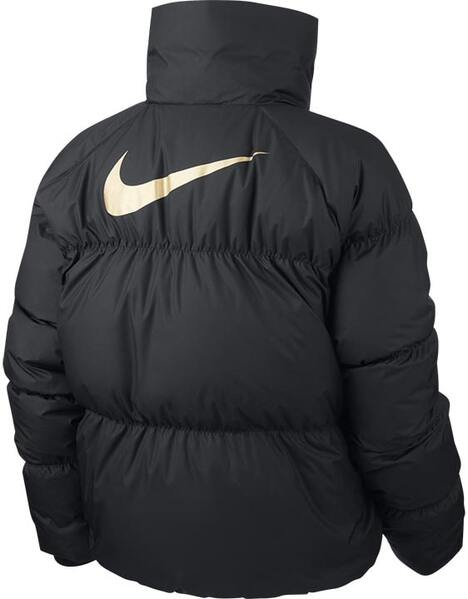 Nike Ladies Black Shine Down Fill Jacket