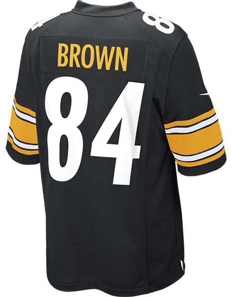 Nike Adult Pittsburgh Steelers Antonio Brown NFL Game Jersey