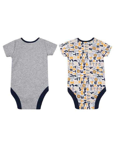 Spurs Baby Boy 2 Pack Printed Bodysuits