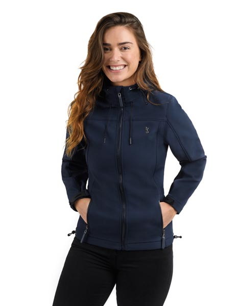 Spurs Womens Soft Shell Hooded Jacket