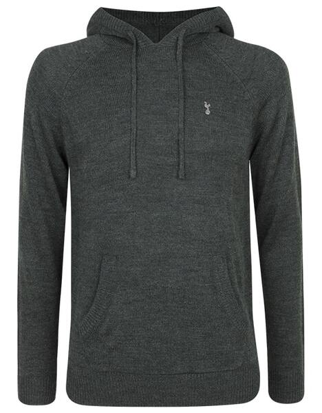 Spurs Mens Hooded Knit Jumper