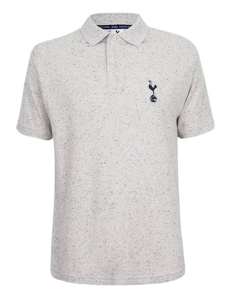 Spurs Mens Salt And Pepper Polo