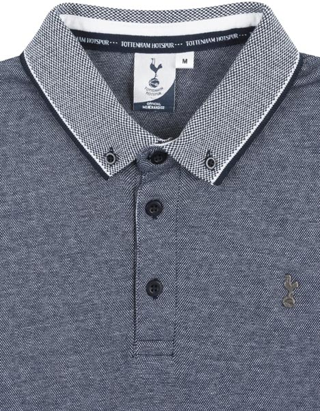 Spurs Mens Marl Contrast Collar Polo