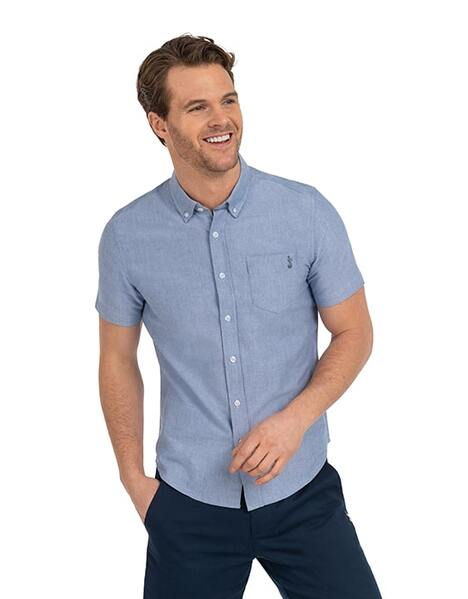Spurs Mens S/S Chambray Shirt