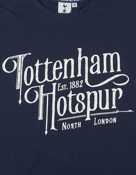 Spurs Mens Tottenham Hotspur Old Font T-Shirt
