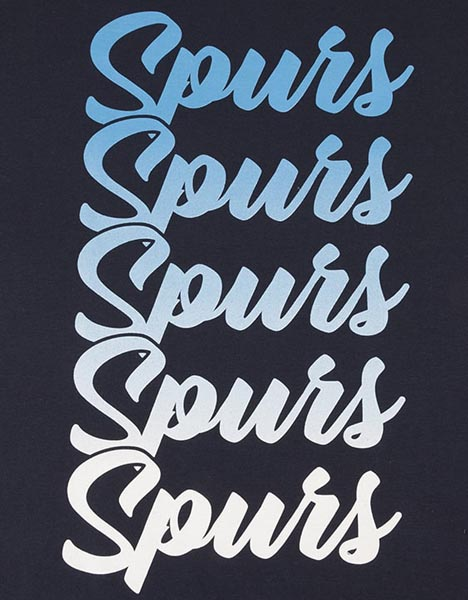 Spurs Mens Gradient Print T-Shirt