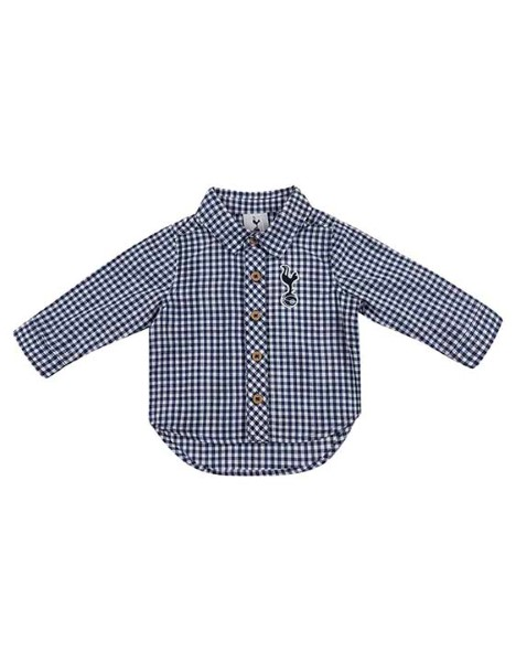 Spurs Baby Boy Check L/S Shirt