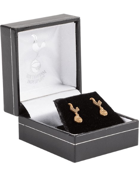 PAIR OF GOLD CREST STUD EARRINGS