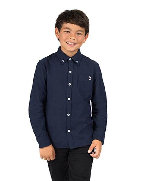 Youth Boys L/S Navy Shirt