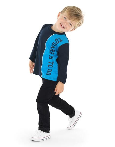 Kids Boys L/S To Dare Is To Do T-Shirt