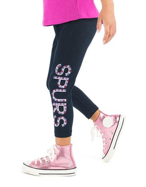 Kids Girls Glitter Print Leggings