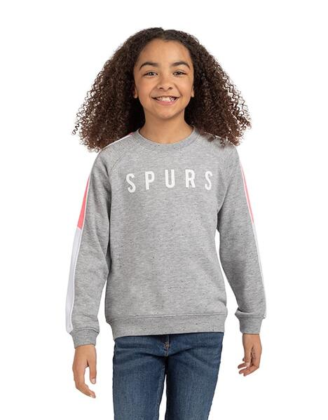 Youth Girls Salt And Pepper Cropped Sweatshirt