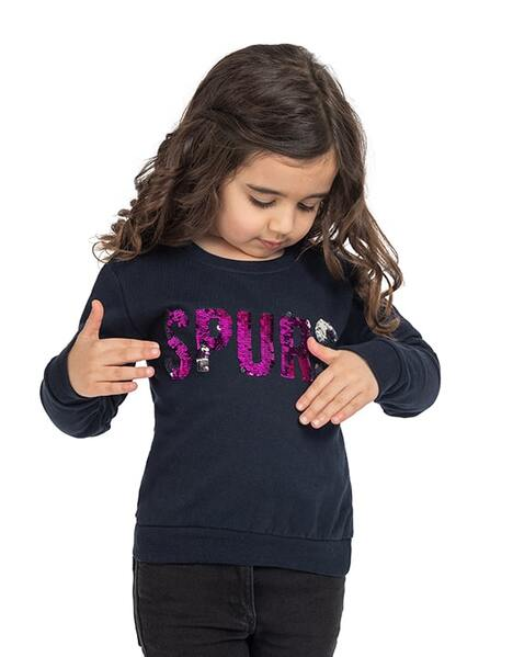 Kids Girls Spurs Sequin Sweatshirt