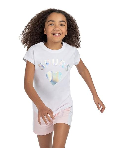 Youth Girls Spurs Holographic T-Shirt