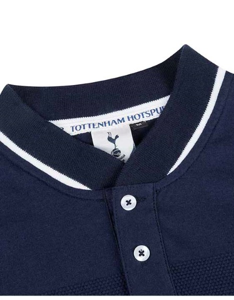 Spurs Mens Baseball Collar Stripe Polo