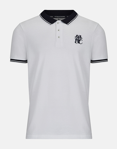 Spurs Mens Contrast Collar Polo