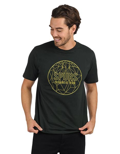 Spurs Mens Circle To Dare Is To Do T-Shirt