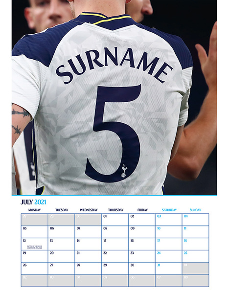 Personalised Spurs 2014 Calendar