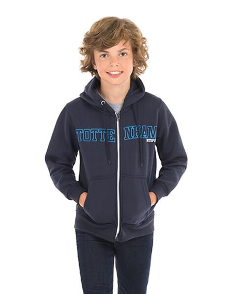 Spurs Youth Boys Tottenham Hotspur Full Zip Hoodie