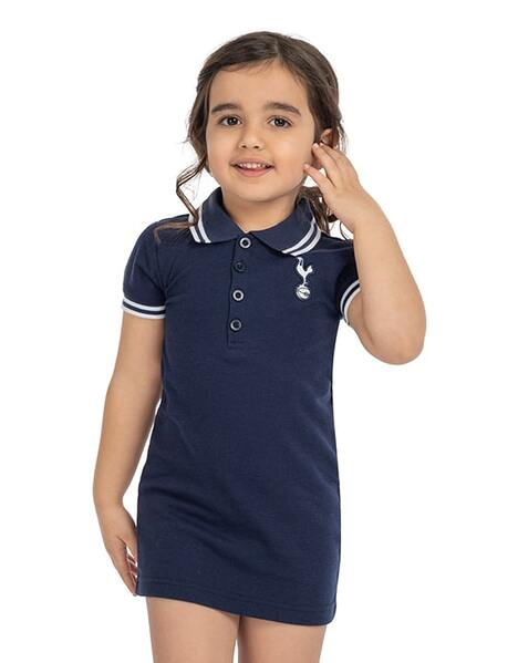 Kids Girls Polo Collar Dress