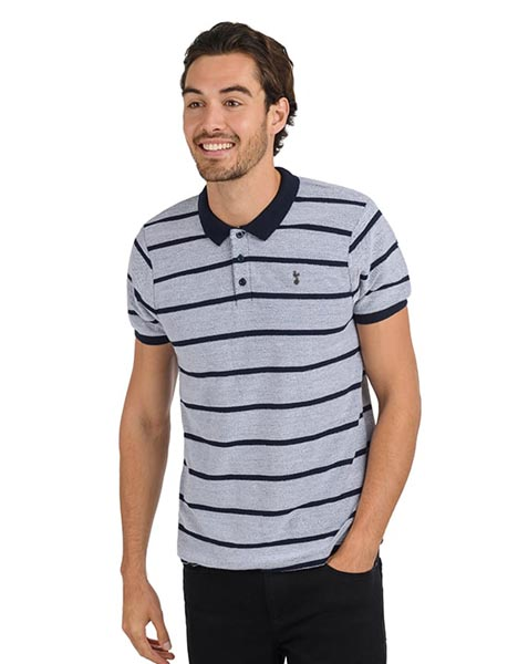 Spurs Mens Mixed Stripe Polo