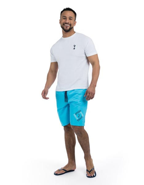 Spurs Mens Printed Swim Shorts
