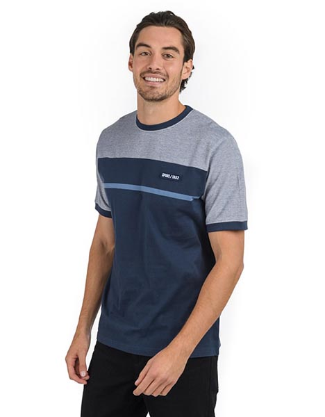 Spurs Mens Colour Block Lined T-Shirt