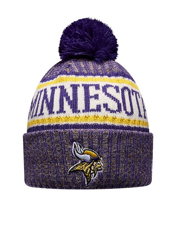 New Era Adult Minnesota Vikings Bobble Knit Hat  414fc9f6fdc