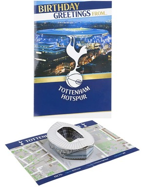Spurs Stadium Pop Up Greetings Card