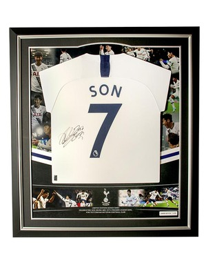 Spurs Heung-Min Son Signed 50th Goal Framed Shirt