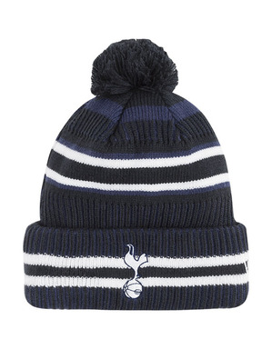 Spurs New Era Stripe Bobble Beanie