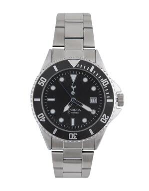 Spurs Mens Black Dial Bracelet Watch