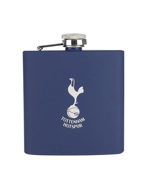 Spurs Navy Soft Touch Hip Flask