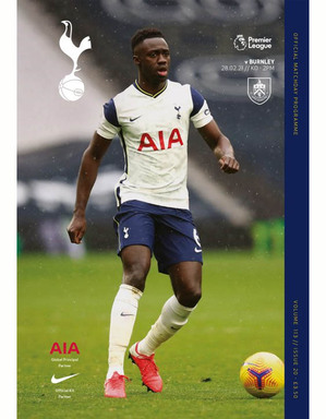 Spurs Vs Burnley Programme