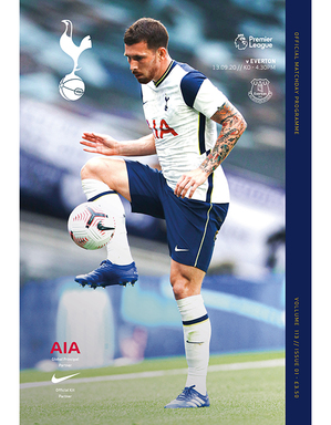 Spurs Vs Everton Programme 2020/21